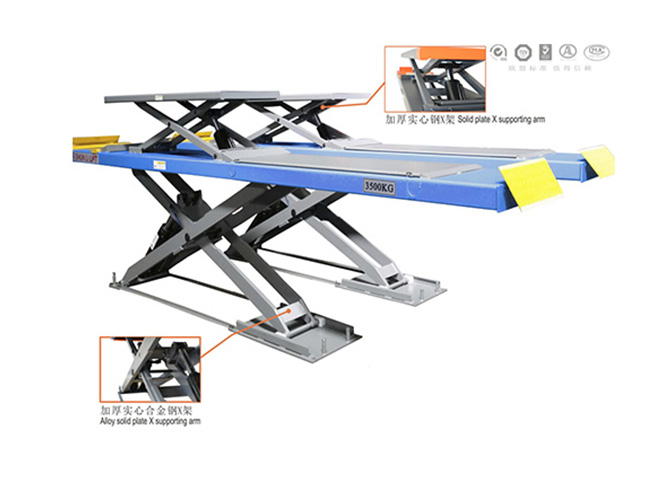 SHL-Y-J-35CCBL Ultrathin Double Level Scissor Lift for Four Wheel Alignment