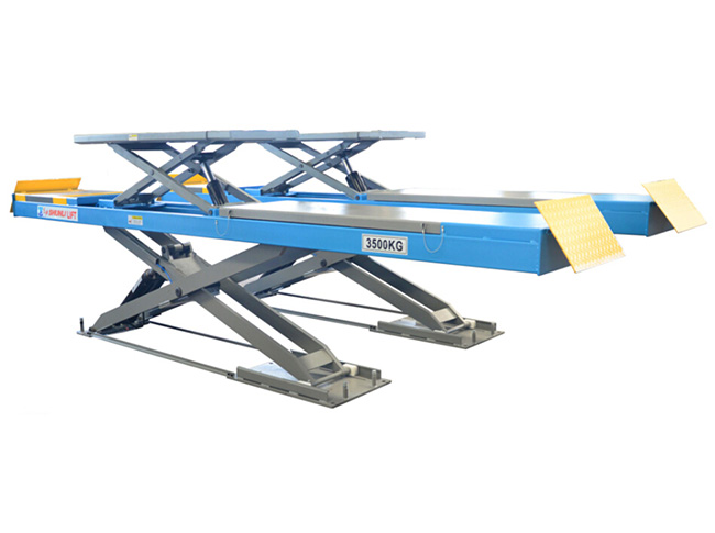 SHL-Y-J-35CBL on Ground  Wheel Alignment  Scissor Lift