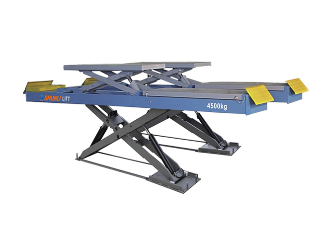 SHL-Y-J-45CBL Ultrathin Double Level Scissor Lift for Four Wheel Alignment