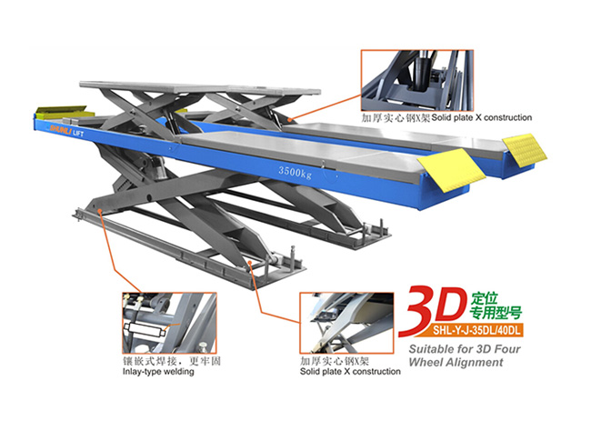 SHL-Y-J-35DL Double Level Scissor Lift for Four Wheel Alignment