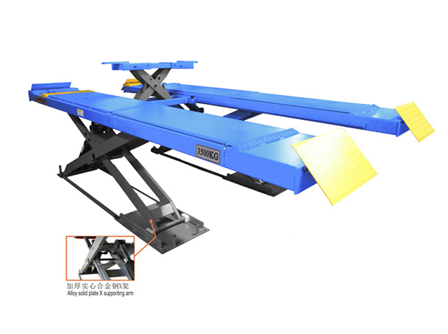 SHL-Y-J-35CCX Ultrathin Scissor Lift for Four Wheel Alignment(With Trolley)