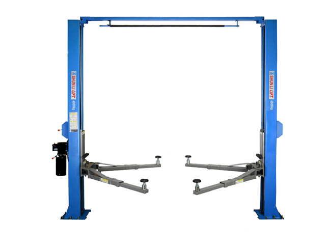 SHL-2-245L Clear-floor Two Post Lift(Solid Plate Version)