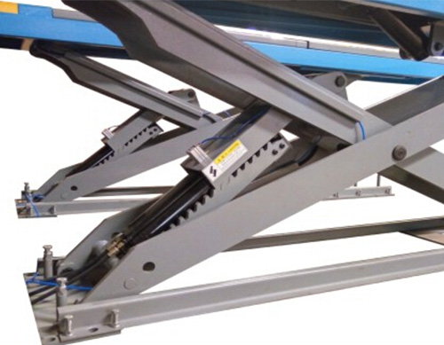 SHL-Y-J-45CCBL Ultrathin Double Level Scissor Lift for Four Wheel Alignment