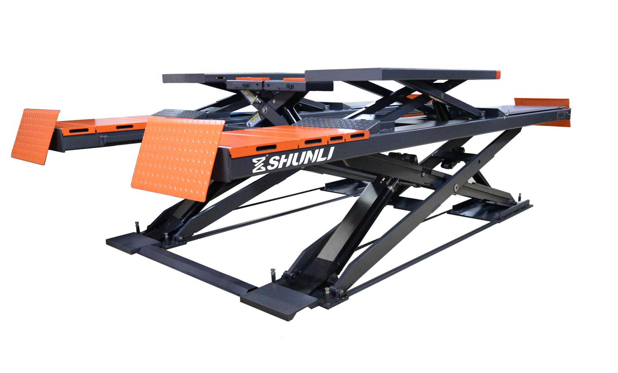 SHL-Y-J-50CCBL/55CCBL Ultrathin Double Level Scissor Lift for Four Wheel Alignment